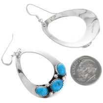 Natural Turquoise Nugget Earrings 26829