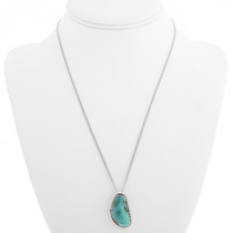 Navajo Turquoise Silver Pendant 28655