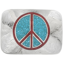 Peace Sign Belt Buckle 15856