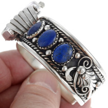 Ladies Silver Lapis Watch 24434