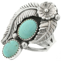 Turquoise Silver Ladies Ring 27157