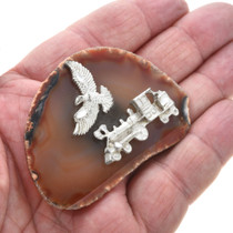 Agate Silver-tone Charm Magnet