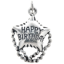 Sterling Silver Happy Birthday Charm 35446
