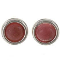 Rhodochrosite Sterling Stud Earrings 28006