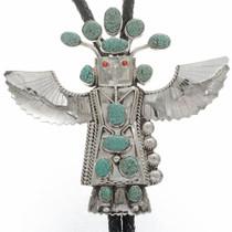 Vintage Large Eagle Dancer Bolo Tie 28317