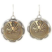 Gold Silver Navajo French Hook Earrings 29656
