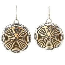 Gold Silver Navajo French Hook Earrings 29656