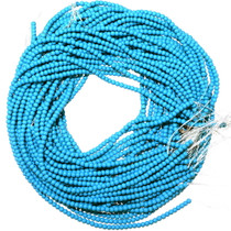 4mm Round Beads Man-Made Turquoise 25657
