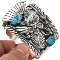 Navajo Turquoise Silver Mens Watch 24043