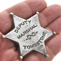 Deputy Marshal Western Silver Badge 28994