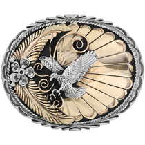 Gold Silver Eagle Belt Buckle 19251