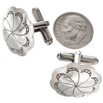 Navajo Sterling Concho Cuff Links 20853