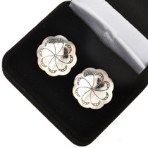 Southwest Silver Concho Cuff Links 20853