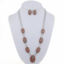 Spiny Oyster Opal Necklace Set 24649