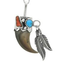 Navajo Bear Claw Pendant 24588