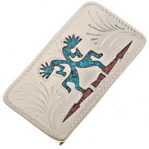 Turquoise Kokopelli Money Clip 23054