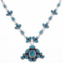 Turquoise Silver Necklace 11512