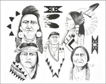 Native American Indians Art Print 17206