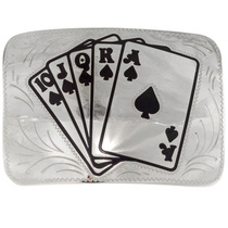 Royal Flush Belt Buckle