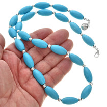 Silver Blue Native American necklace 29708
