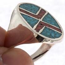 Navajo Turquoise Signet Ring 25515