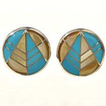 Southwest Gold Lip Earrings 29160