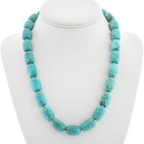 Navajo Turquoise Magnesite Necklace 23352