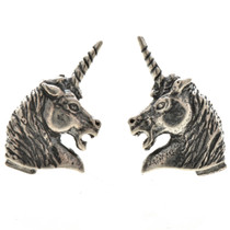 Sterling Unicorn Post Stud Earrings 22803