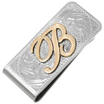 Hand Engraved Money Clip 22665