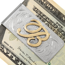 Silver Gold Money Clip 22665