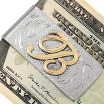 Silver Gold Money Clip 22665