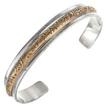 Gold Silver Navajo Bracelet 14748