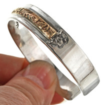Overlaid Gold Western Scroll Cuff 14748