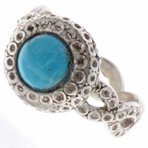 Turquoise Silver Navajo Ring 25669