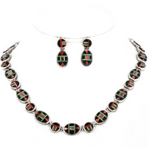 Inlaid Multistone Southwest Necklace Set 12703