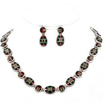 Inlaid Multistone Southwest Necklace Set 12703