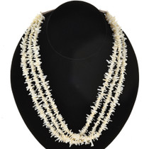 White Branch Coral Navajo Necklace 22869