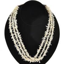 White Branch Coral Navajo Necklace 22869