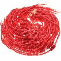 Red Pearl Beads 16 inch Long Strand Pre-Strung Variety 5mm, 7mm, & 12mm