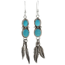Feather Earrings French Hooks 29483