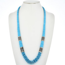 Tommy Singer Style Turquoise Silver Necklace