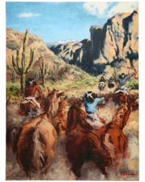 Apache Stock Market Canvas Giclée 16376
