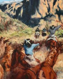 Apace Indians Herding Horses Artwork 16376