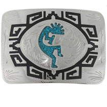 Turquoise Kokopelli Belt Buckle 27373