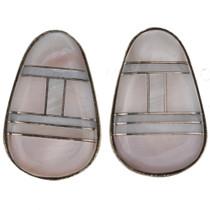 Pink Shell Sterling Post Earrings 29629