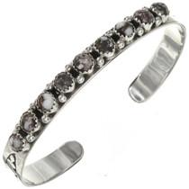 Wild Horse Magnesite Silver Navajo Bracelet 29224