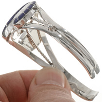 Navajo Lapis Silver Cuff Bracelet 28243
