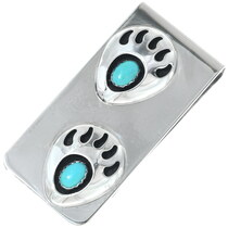 Turquoise Silver Money Clip 25453