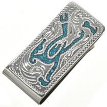 Roadrunner Turquoise Money Clip 29256