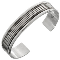 Navajo Twist Wire Smooth Silver Cuff12885
